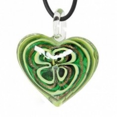 Amulett Glasherz grün