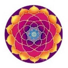Aufkleber goldener Lotus