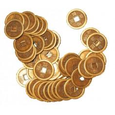 Chinesische Glücksmünzen Messing einzeln 2,5 cm