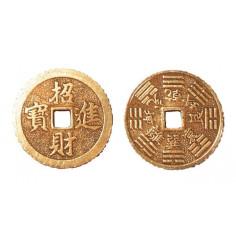 Chinesische Glücksmünzen Messing einzeln 3,8 cm verzinnt