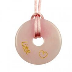Liebe Rosenquarz Donut