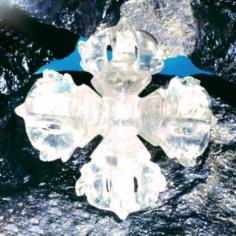 Doppeldorje aus Bergkristall