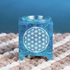 Duftlampe Blume des Lebens blau