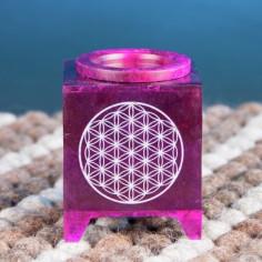 Duftlampe Blume des Lebens violett