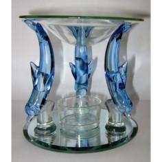 Duftlampe Delphin aus Glas
