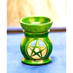 Duftlampe Keramik Pentagramm