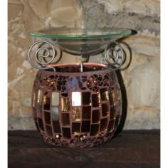 Duftlampe Mosaik braun
