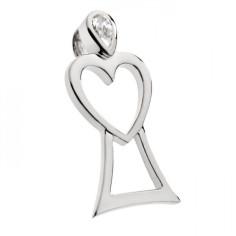 Engel des Herzens - Silber mit Zirkonia - Anhänger