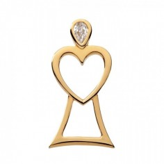 Engel des Herzens - vergoldet - Anhänger