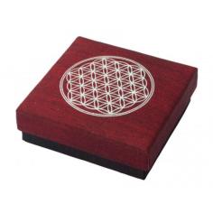 Geschenkbox Blume des Lebens maroon