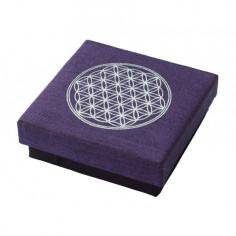 Geschenkbox Blume des Lebens purple