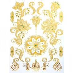 Golden Flower - Körper-Tattoo Golden Energie