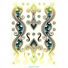 Indian Henna - Körper-Tattoo Golden Energie