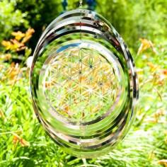Mobile Blume des Lebens Windspiel Ø 45 cm