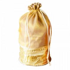 Organza Täschchen gold 20 cm