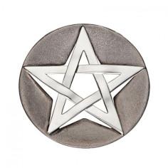 Pentagramm Anhänger Silber teilgeschwärzt