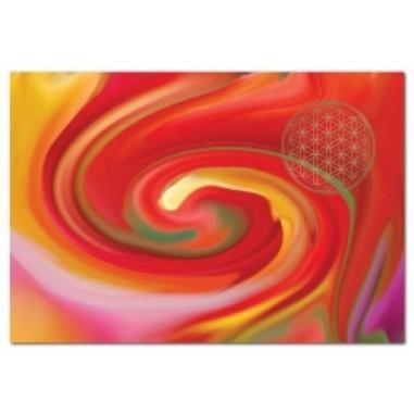 Postkarte Energiebild Blume des Lebens