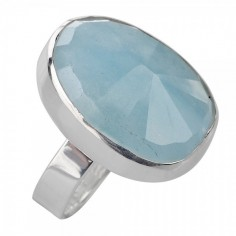Ring Aquamarin facettiert