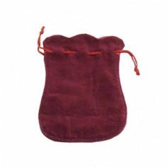 Samtbeutel gewellt rot 9 x 12 cm