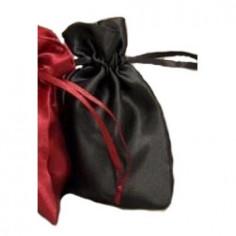 Satinbeutel Dehli schwarz 10 x 15 cm