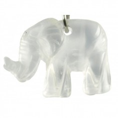 Schlüsselanhänger Elefant Bergkristall
