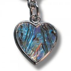 Schlüsselanhänger Paua-Muschel Herz