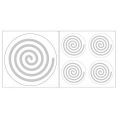 Spirale links Aufkleber silberfarben