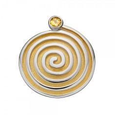 Spirale teilvergoldet Anhänger mit Citrin