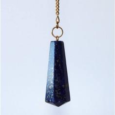 Stabpendel Sechskant 304 Lapis Lazuli (Messingkette)