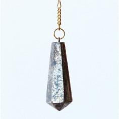 Stabpendel Sechskant 304 Pyrit (Messingkette)