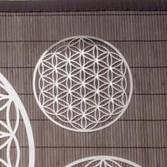 Wandschmuck 18 cm Edelstahl mit Kristallen