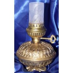 Windlicht Petrolllampenform mit Zylinderglas 22 cm