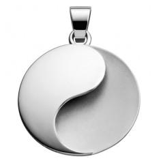 Ying Yang Symbolschmuck Anhänger Silber Mattsilber