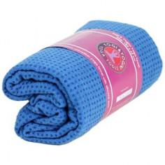 Yoga Handtuch rutschfest mit Silikonnoppen blau