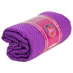 Yoga Handtuch rutschfest mit Silikonnoppen violett