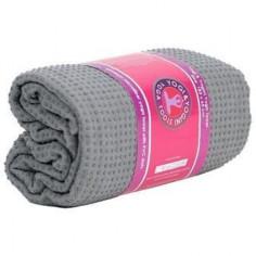 Yoga-Handtuch - PVC rutschfest grau