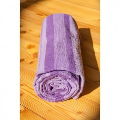Yogamatten aus gewebter Baumwolle lila