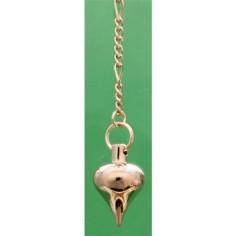 Pendel Zwiebelform klein 214 Verrotgoldet