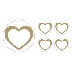 Herz Aufkleber goldfarben
