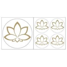 Lotusblüte Aufkleber goldfarben