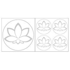 Lotusblüte Aufkleber Silberfarben