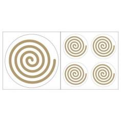 Spirale links Aufkleber goldfarben