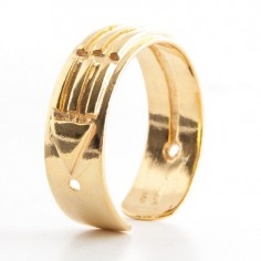 Atlantis Ring silber vergoldet