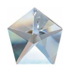 Pentagon bleifrei 50 mm Regenbogenkristall