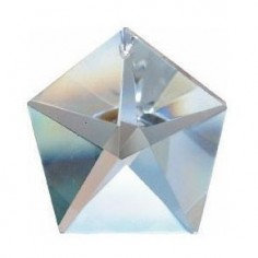 Pentagon bleifrei 50mm Regenbogenkristall