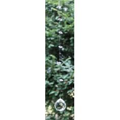 Regenbogenkristall Sonnenfänger-Hänger Rondel quer