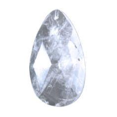 Tropfen  flach 45 x 28 x 10mm Lichtkristall
