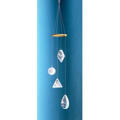 Lichtkristall Mobile Spirale mit Lichtkristallen