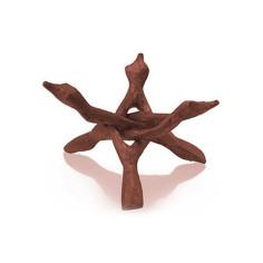 Dreifuss Kobra klein Holz Kristallkugelständer