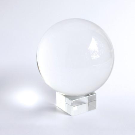 Glas gerade Kristallkugelhalter
